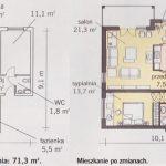 Rozplanowanie kuchni i pokoju dziennego